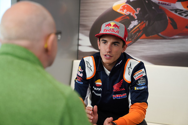 Marc Marquez, speaking at Assen