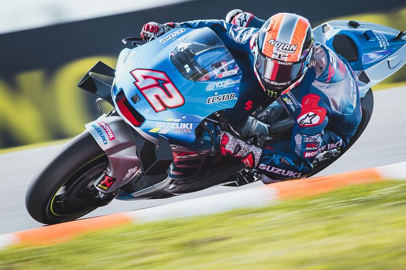 Alex Rins on the Suzuki Ecstar at the 2020 Brno MotoGP round