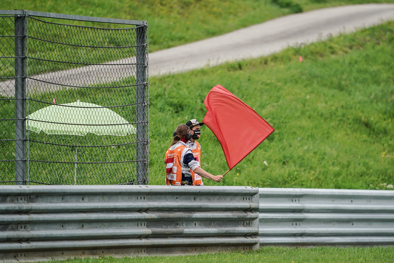 Red flag waved at the Styrian Grand Prix at the Red Bull Ring