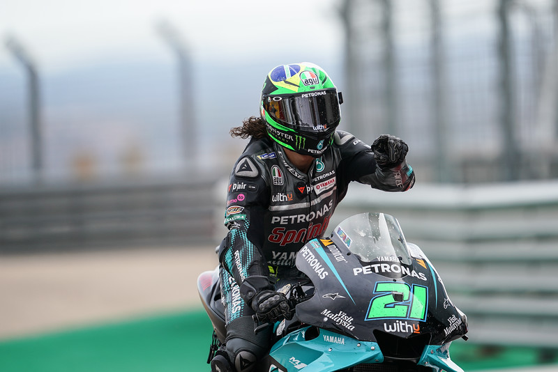 Franco Morbidelli on the Petronas Yamaha at Aragon 2020