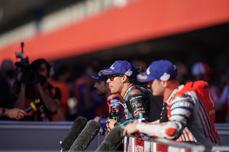 Franco Morbidelli after qualifying for the Portimao MotoGP 2020 Grand Prix