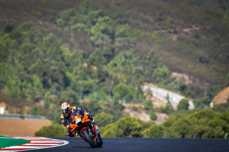 Dani Pedrosa aboard the KTM RC16 at the Portimao test in October 2020