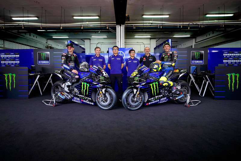 The Monster Energy Yamaha team for MotoGP 2020