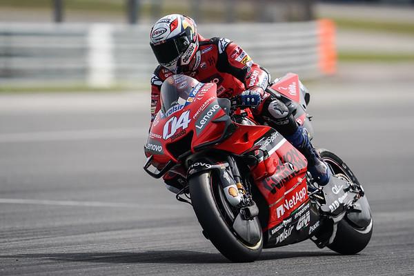 Andrea Dovizioso on the Ducati Desmosedici GP20 at the Sepang MotoGP test