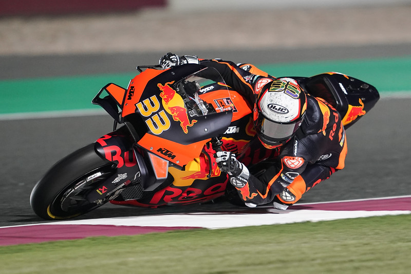 Brad Binder at the 2021 Qatar 2 MotoGP test