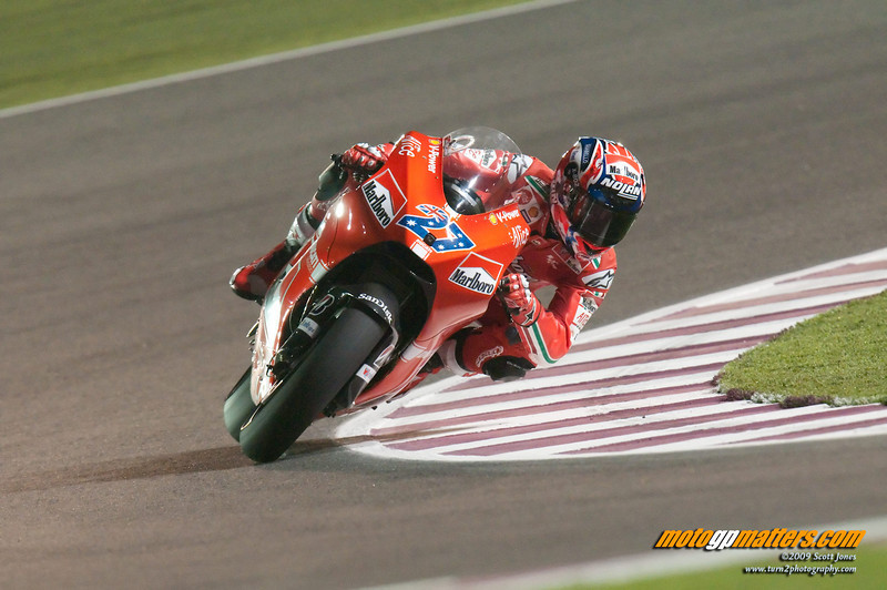 Casey Stoner at the 2009 Qatar MotoGP Round