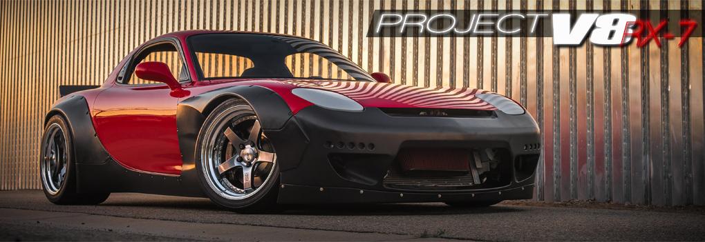 MotoIQ Project V8 RX-7 Rocketbunny RX-7 SSR Stoptech Toyo
