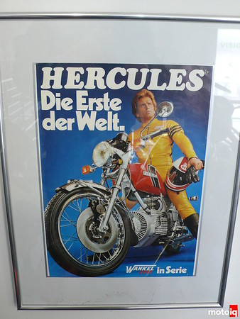 hercules rotary motorcycle poster