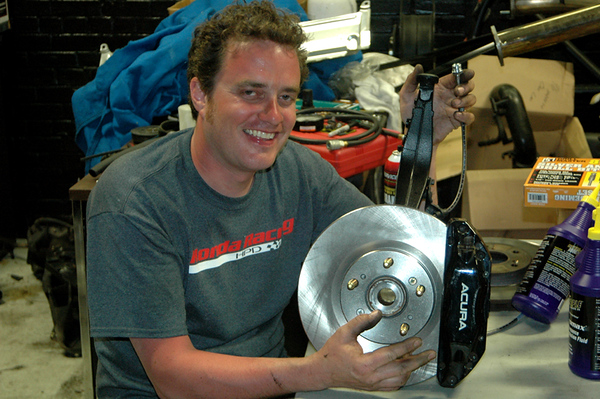 The Stock Knuckles Were Drilled Out To Accept Larger Od Acura Tl Mounting Bolts Which In Turn Allowed Of Brembo Type S