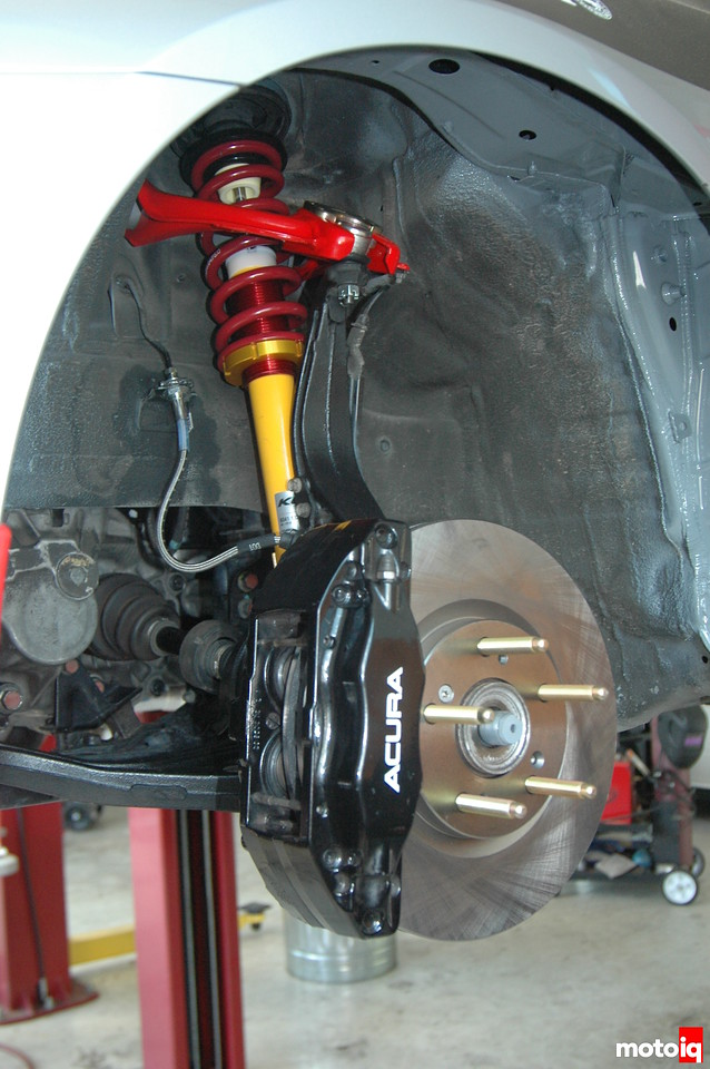 Brembo Calipers S2000 Rotors Long Studs Hubcentric Ers And Braided Steel Brake Lines Look Sharp