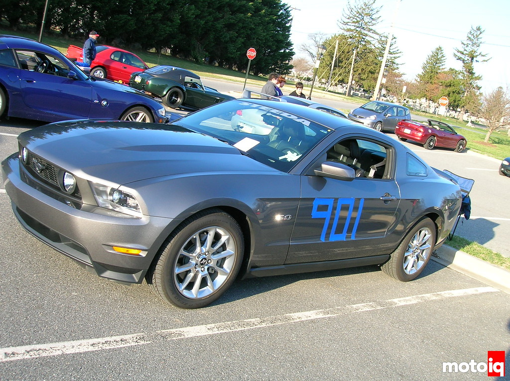 5.0 Mustang with autocross numbers
