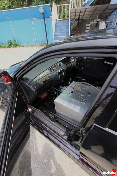 Carbon door panels, and another look at the cockpit from afar.<br /> <br /> CT9A, EVO, Lancer, Mitsubishi
