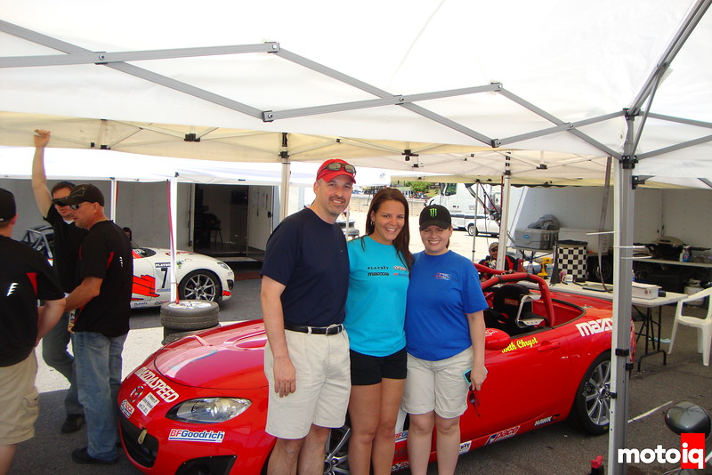 Beth Chryst with fans