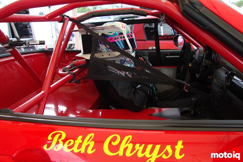 Beth Chryst in car