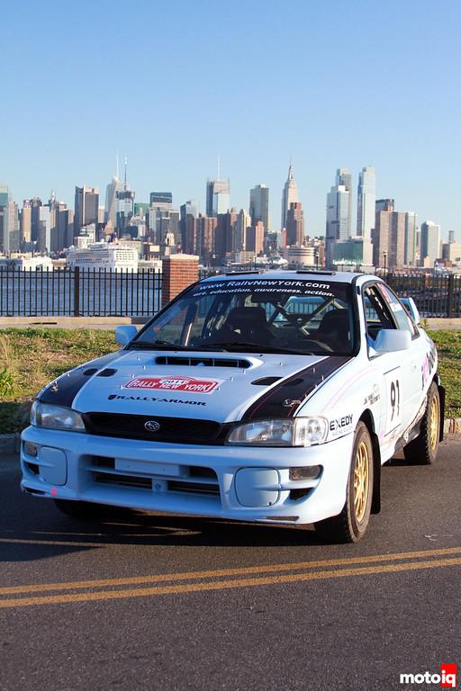 Subaru Imprezza NYC Skyline