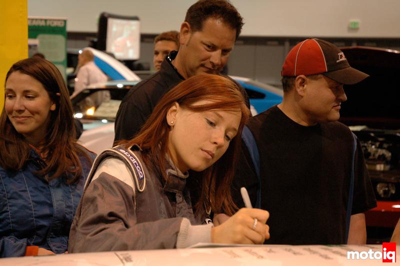 Savannah Rickli signing autographs
