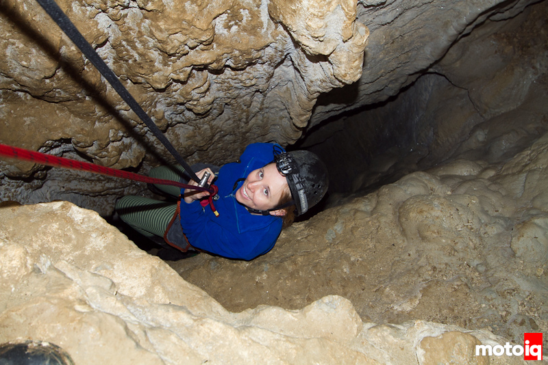 Abseiling glow worm caves