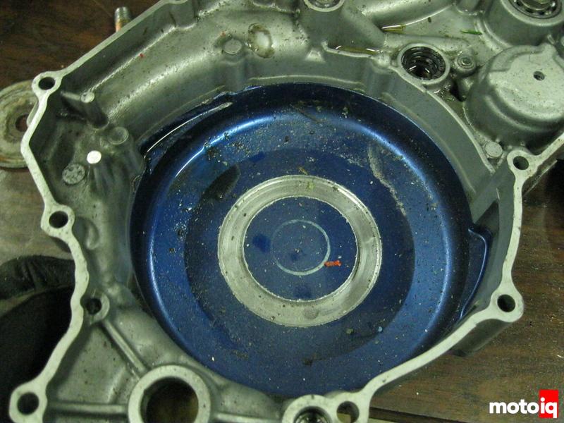 Damaged YFZ450 Engine