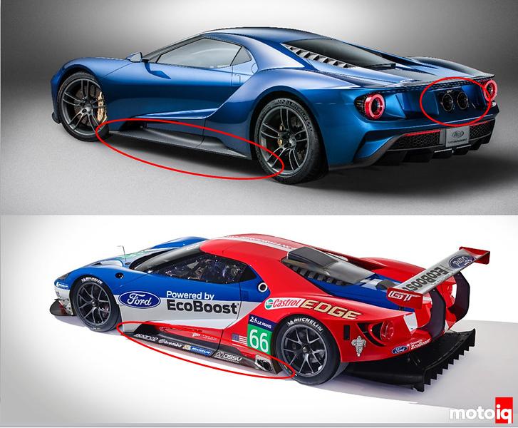 Worksheet. Sneak Peek Ford GT Street Car vs Race Car
