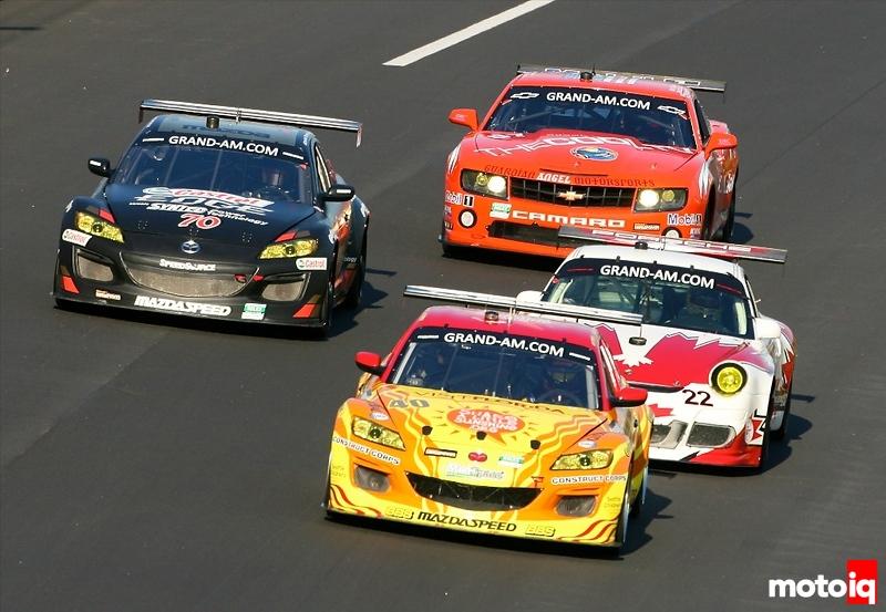 Mazda RX-8 Porsche 911 GT3 Cup and Chevrolet Camaro at Daytona