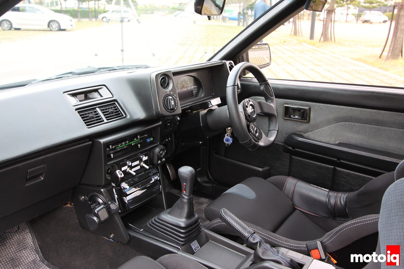 Levin: Interior, from left, TRD shifter, Momo Steering, Switches, Entertainment Center.