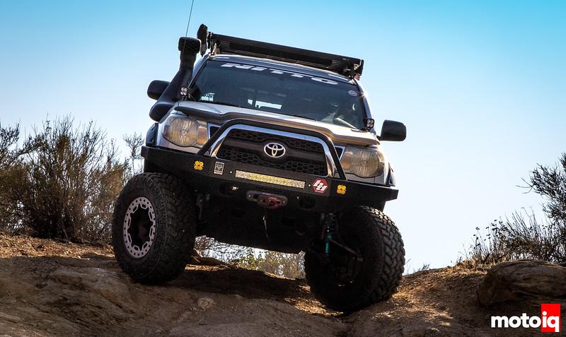 Jimahajer Garage Toyota Tacoma Overlander sitting offroad sloping downwards