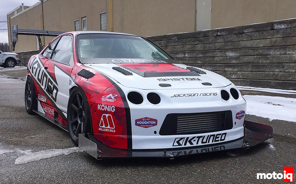 K-Tuned Acura Integra Type R: New Wrap outside shop