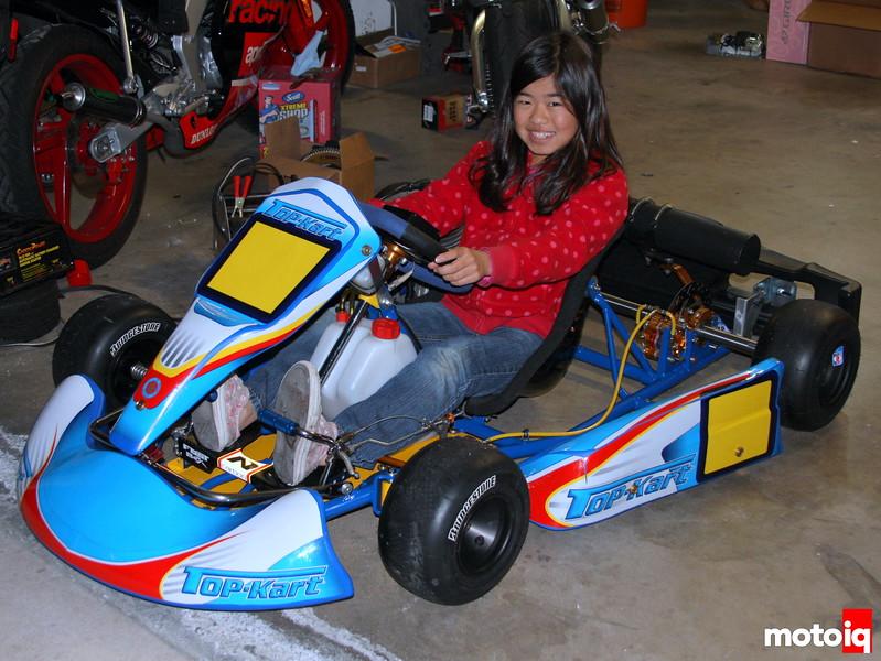 Christa Kojima in her Top Kart Cadet kart