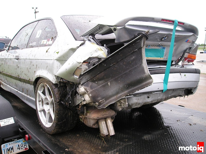 Ryan Staub M3 wreck