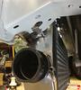 Test fitting the new Vibrant intercooler into the Miata frame rails.