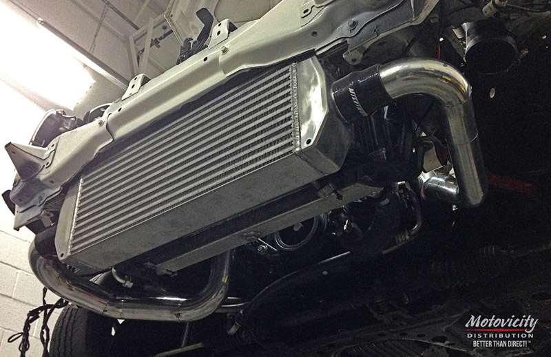 Another look at the final test fit before final welding of the Vibrant intercooler pipes.