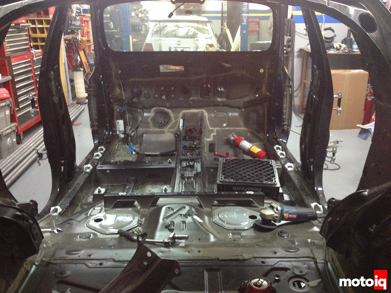 disassembly starts for cage build and sound deadening removal