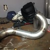 building the 3in turbo back exhaust for the first event