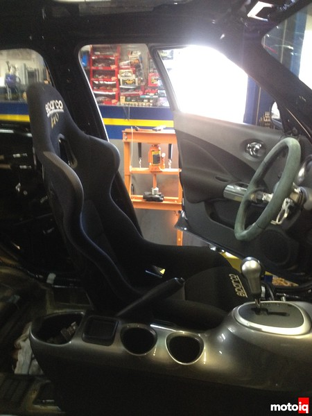test fitting race seats