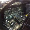 gutting the interior and weighing the diff