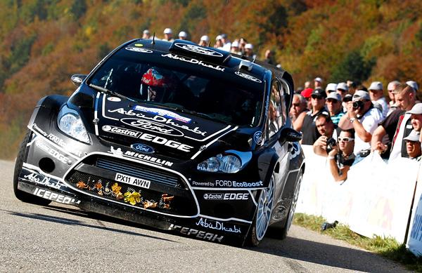 Mikko Hirvonen (FIN) / Jarmo Lehtinen - Ford Fiesta RS WRC. Day two, 2011 Rallye de France