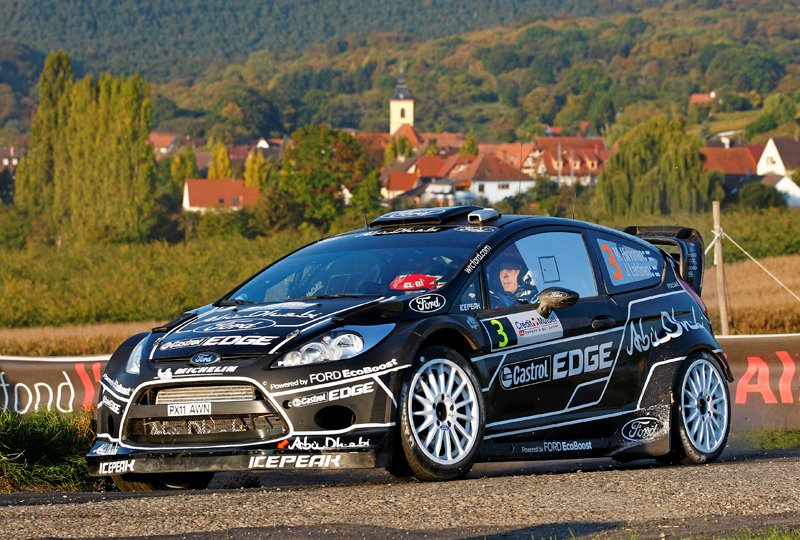 Mikko Hirvonen (FIN) / Jarmo Lehtinen - Ford Fiesta RS WRC. Day three, 2011 Rallye de France