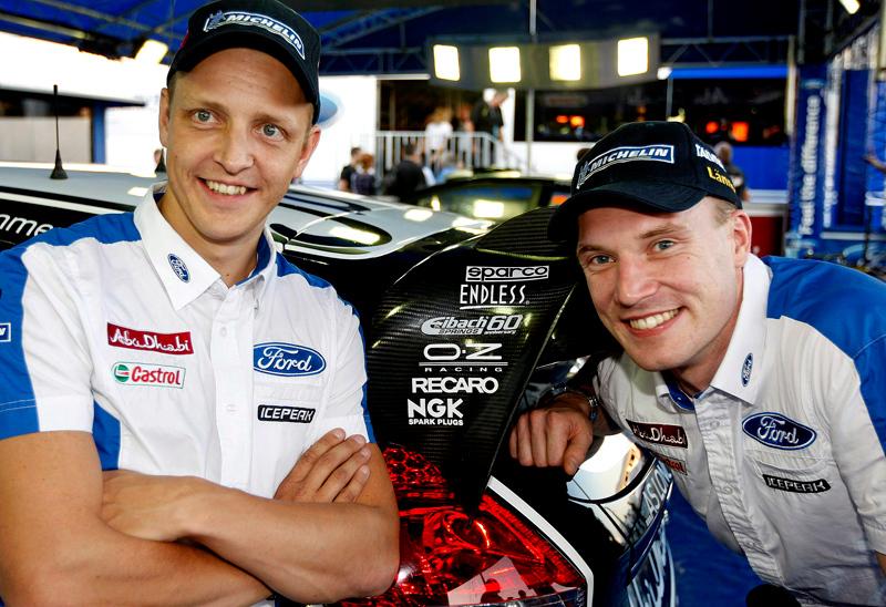 Mikko Hirvonen and Jari-Matti Latvala help to celebrate Eibach's 60 years in Motorsport