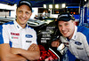 Mikko Hirvonen and Jari-Matti Latvala help to celebrate Eibach's 60 years in Motorsport