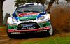 Mikko Hirvonen (FIN) / Jarmo Lehtinen - Ford Fiesta RS WRC. Shakedown, 2011 Wales Rally GB