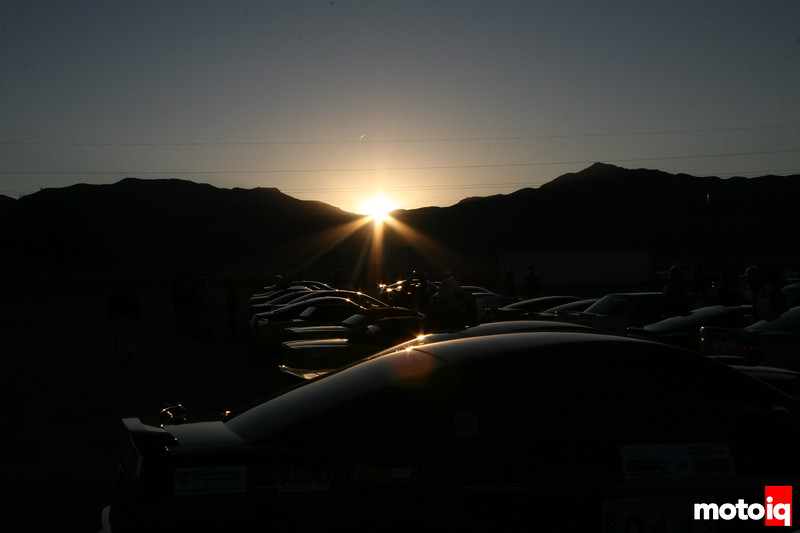 sunrise over the start line, silver state classic