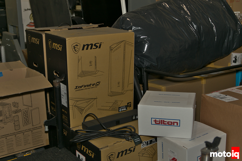pile of MSI and Tilton boxes surrounded by other boxes