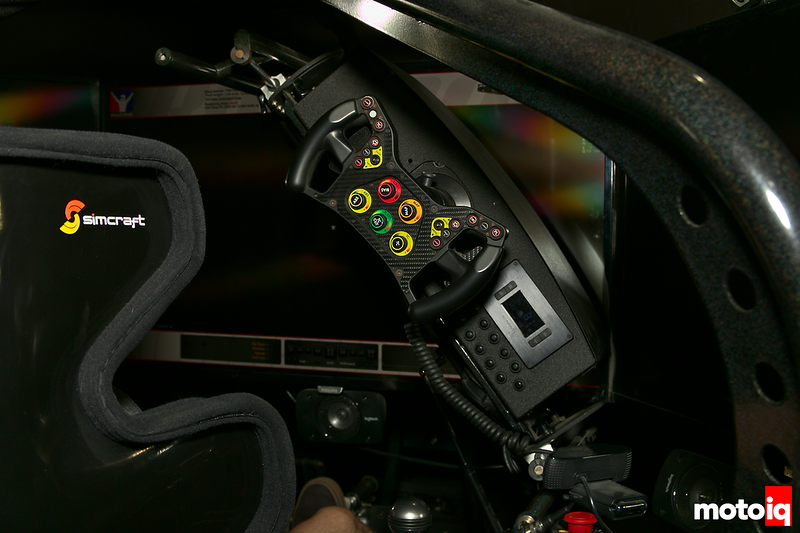 steering wheel and dashboard assembly tilted up and out of the way