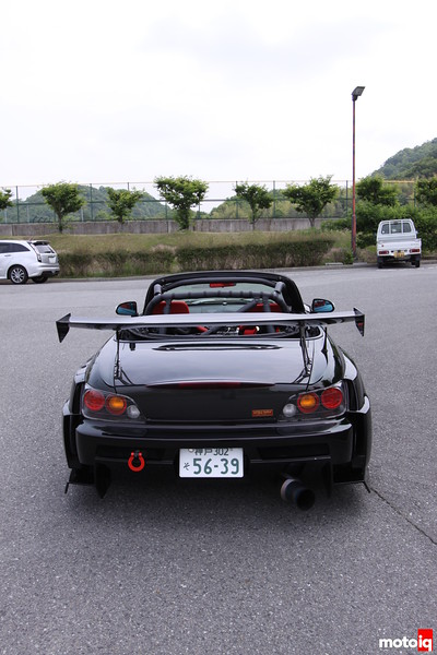 Stillway S2000: Stillway GT Wing. J's Racing Carbon Trunk.