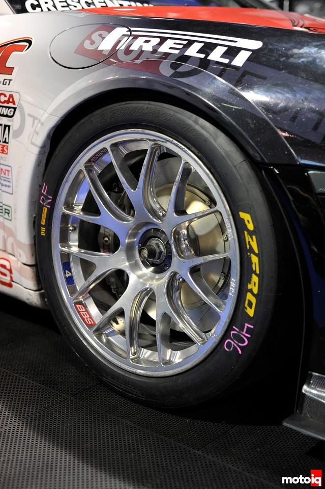 GMG Racing StopTech Porsche 911 GT3 Pirelli PZero racing slick BBS wheel World Challenge