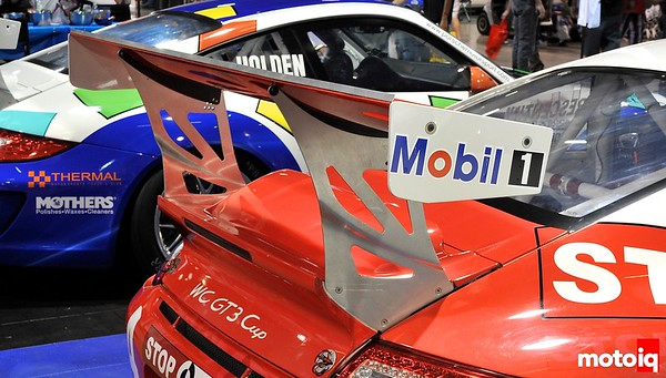 GMG Racing StopTech Porsche 911 GT3 Rear Wing World Challenge SPec