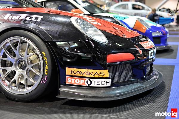 GMG Racing Porsche 911 GT3 Cup Car World Challenge front splitter brake duct BBS wheels pirelli racing slicks