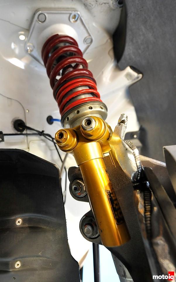 GMG Racing StopTech Porsche 911 GT3 World Challenge Ohlins TTX40 TTX46MT racing shock