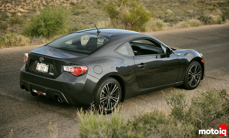 Scion FR-S Black 3/4 view