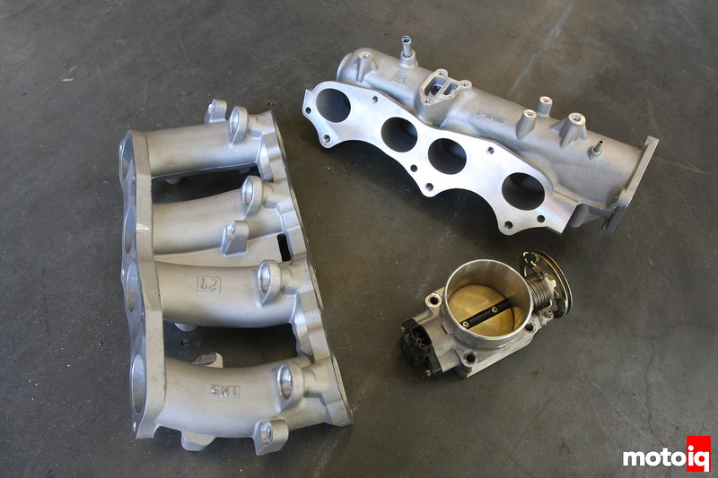 Nissan SR20VE N-1 intake manifold and throttle body
